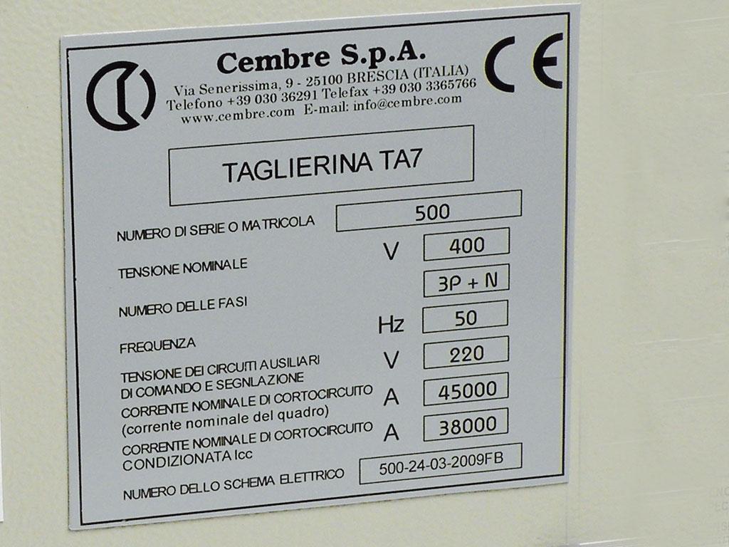 Schemi Elettrici Quadro : Targhe quadro adesive mg vrt a